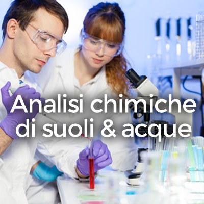 Analisi chimiche di suoli e acque