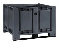 Cargopallet 600 PLUS grigio industriale con 2 travette, 1200x800xh850